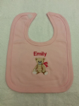 PERSONALISED TEDDY BIB - personalise with a name of your choice...